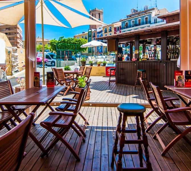 fotografia terraza bar